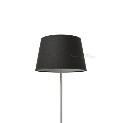 Oval Lampshade with Black Camelot covering