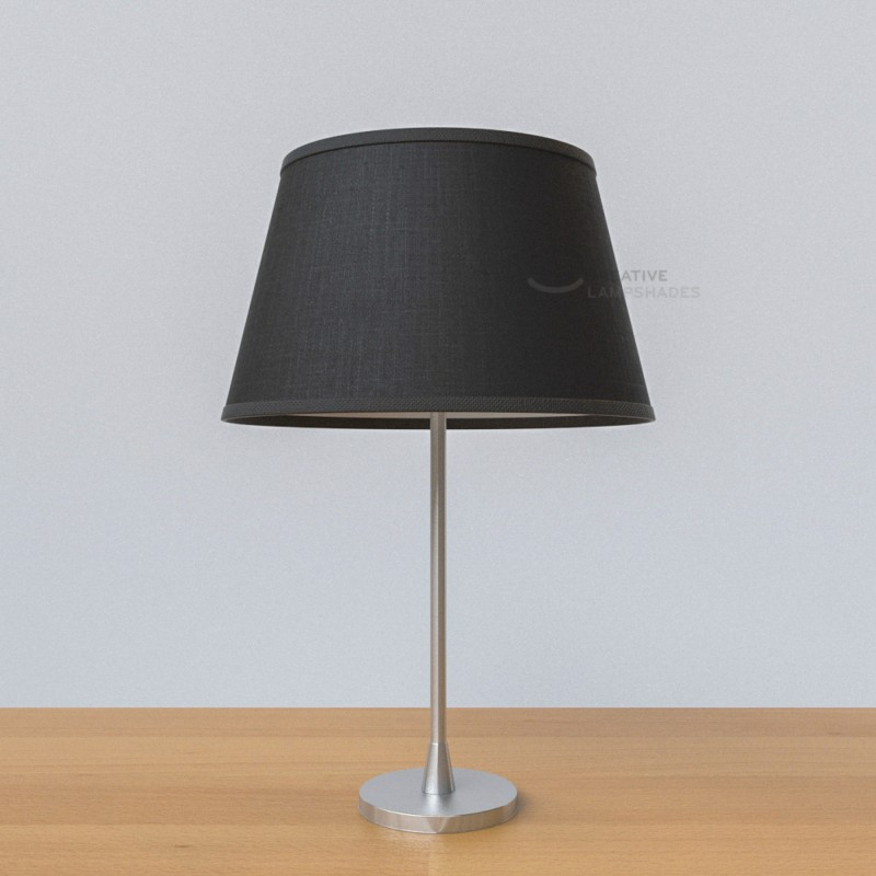 oval verkleideter lampenschirm schwarz camelot. Black Bedroom Furniture Sets. Home Design Ideas