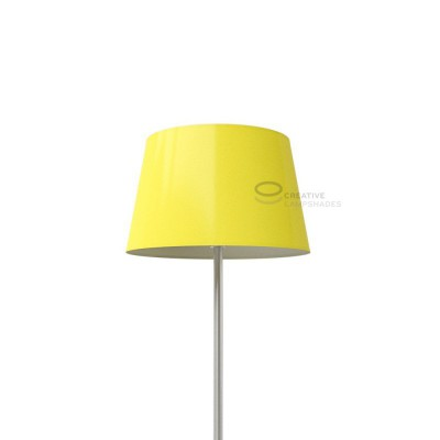 Oval Lampshade with Yellow Lumiere covering