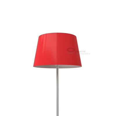 Oval Lampshade with Red Lumiere covering