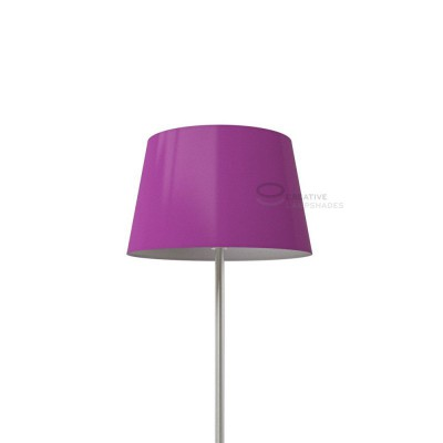 Oval Lampshade with Violet Lumiere covering