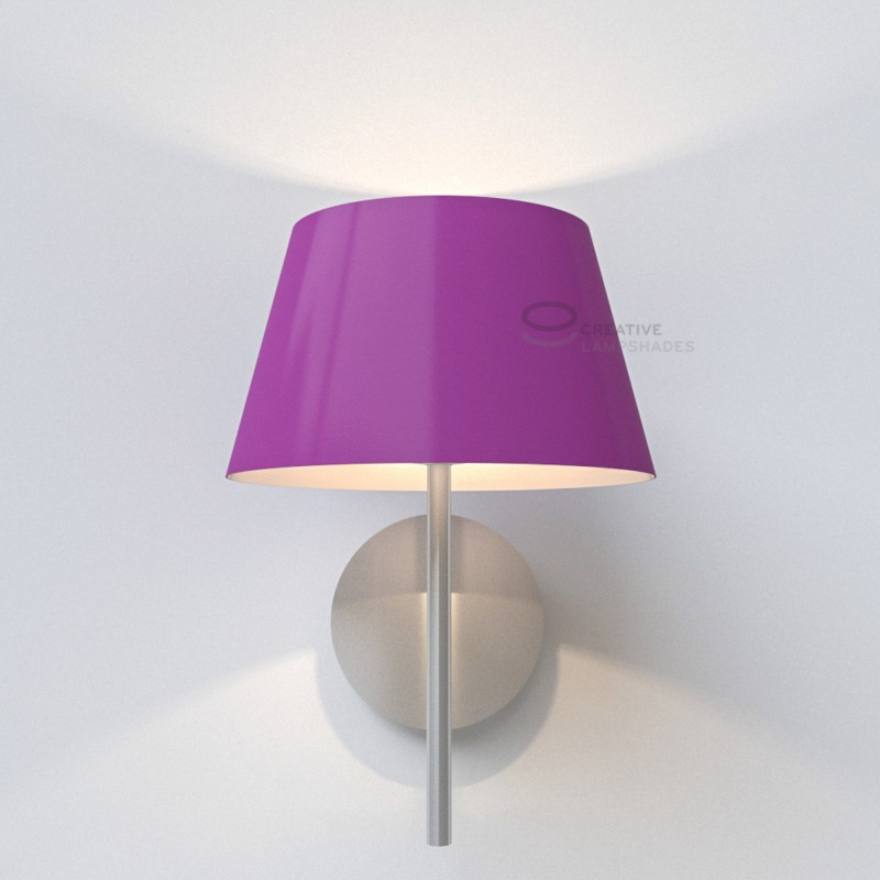 oval verkleideter lampenschirm purpurviolett lumiere. Black Bedroom Furniture Sets. Home Design Ideas