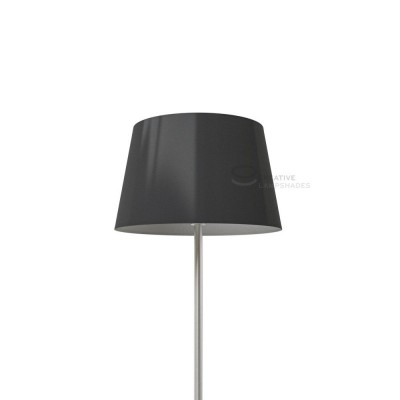 Oval Lampshade with Black Lumiere covering