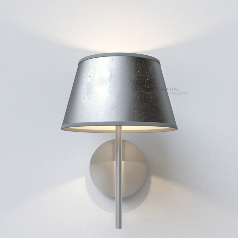 Oval Lampshade with Silver Leaf covering