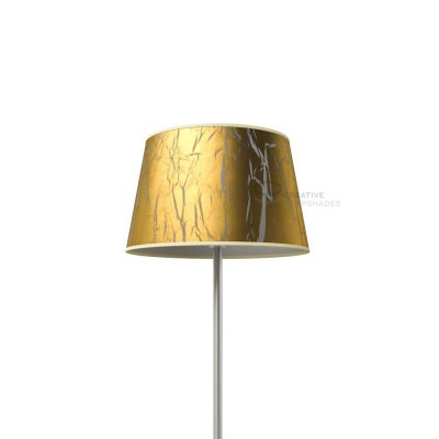 Oval Lampshade with Golden Persia covering