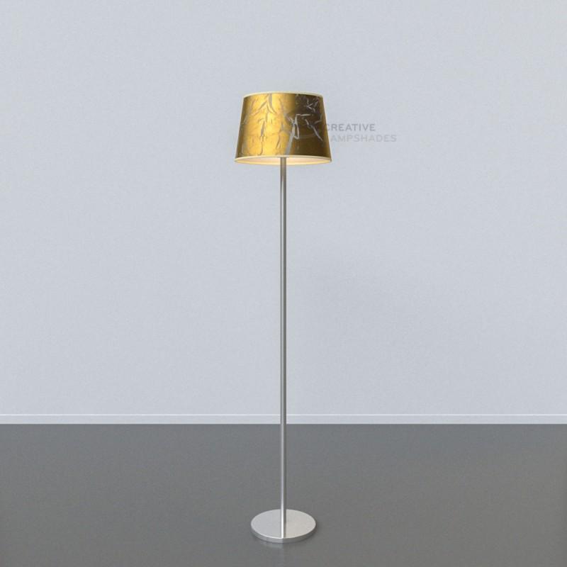 oval verkleideter lampenschirm persiengold. Black Bedroom Furniture Sets. Home Design Ideas