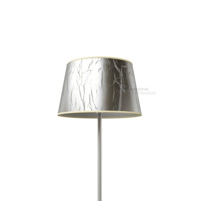 Oval Lampshade with Silver Persia covering