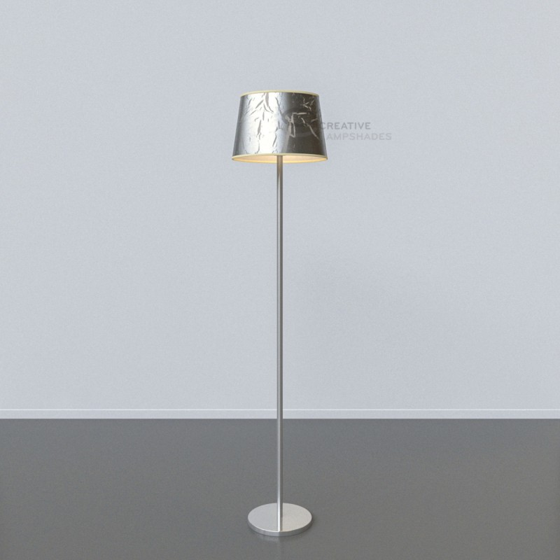 oval verkleideter lampenschirm persiensilber. Black Bedroom Furniture Sets. Home Design Ideas