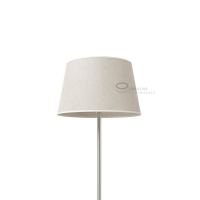 Oval Lampshade with White Parchment covering