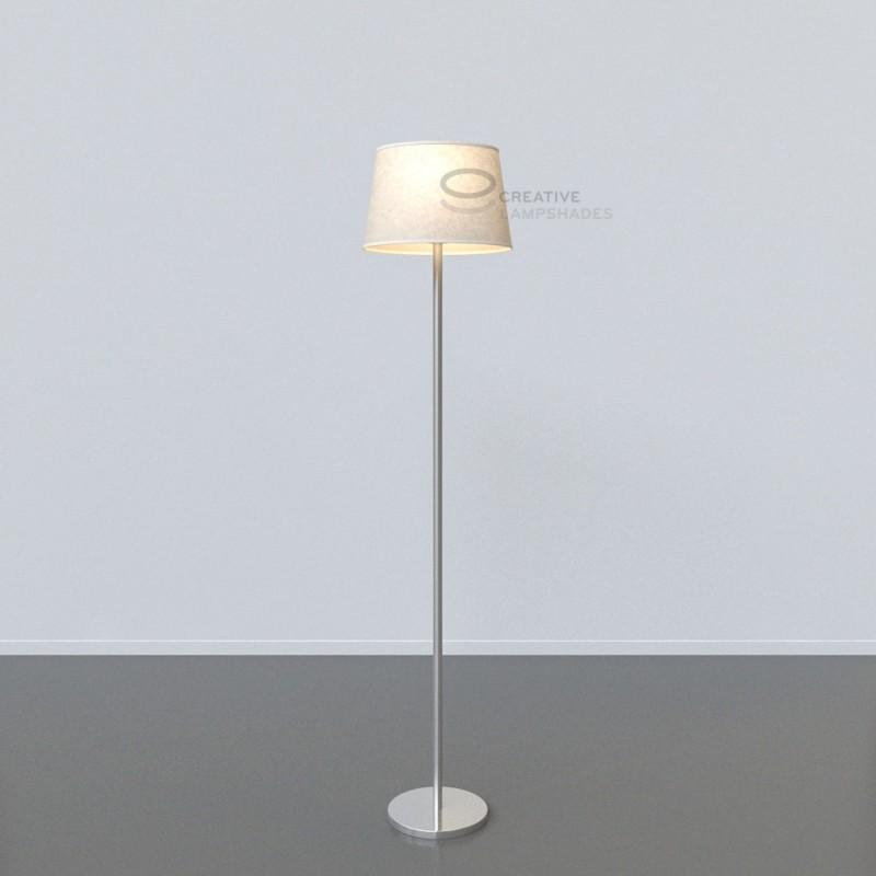 oval verkleideter lampenschirm wei pergament. Black Bedroom Furniture Sets. Home Design Ideas