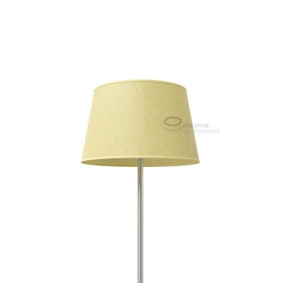 Oval Lampshade with Light Yellow Parchment covering
