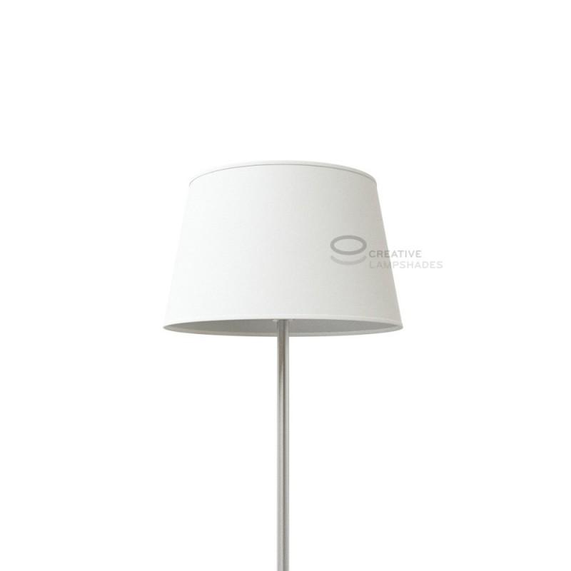 oval verkleideter lampenschirm rauwei baumwolle. Black Bedroom Furniture Sets. Home Design Ideas