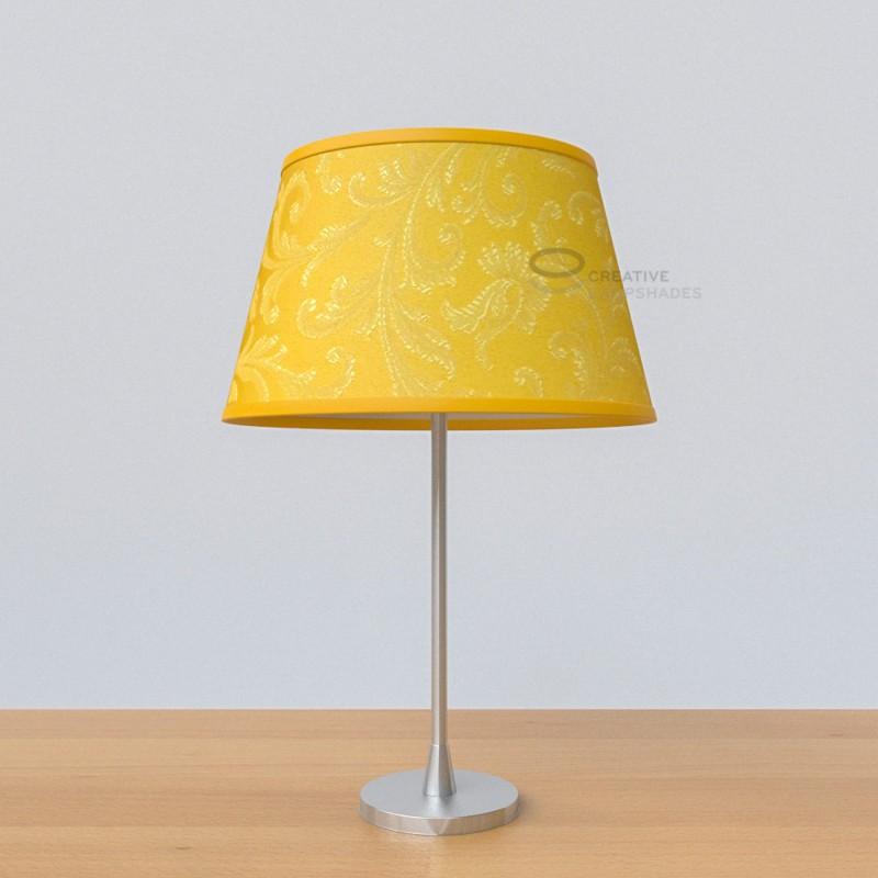 oval verkleideter lampenschirm zitrusgelb. Black Bedroom Furniture Sets. Home Design Ideas