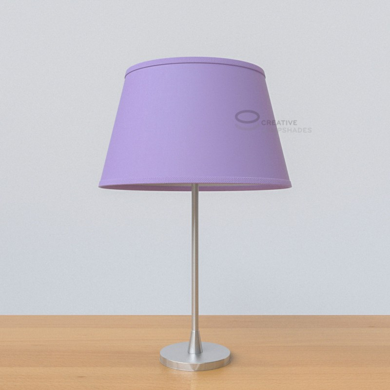 Oval lampshade with lilac canvas covering mozeypictures Gallery