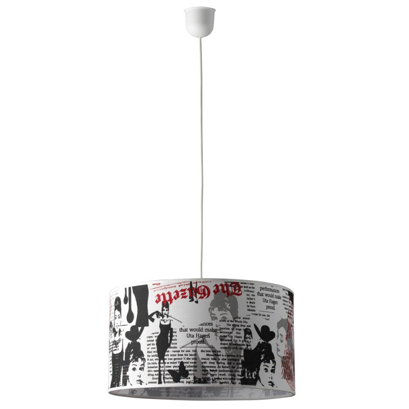 Complete pendant Audrey print E27 fitting Max 60W