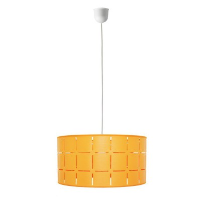 Complete pendant in varnished orange E27 fitting Max 60W
