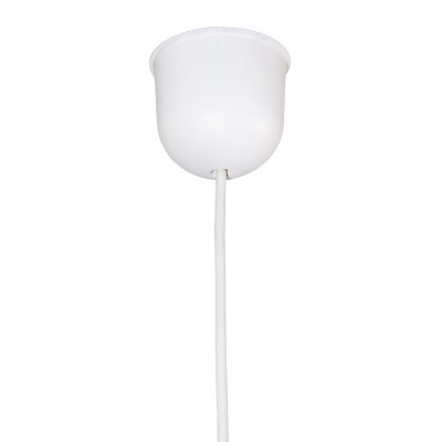 Complete pendant in varnished white E27 fitting Max 60W