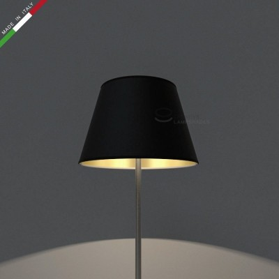 Empire Lamp Shade Black canvas int. Gold