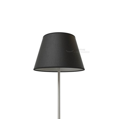 Empire Lamp Shade Black canvas