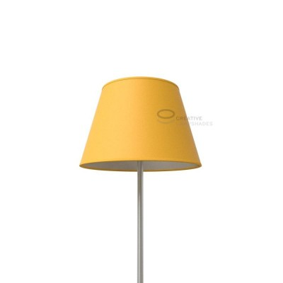 Empire Lamp Shade Golden Yellow canvas