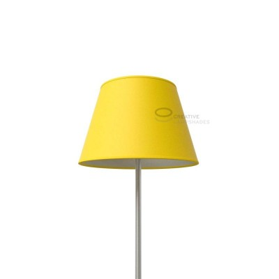 Empire Lamp Shade Bright Yellow canvas