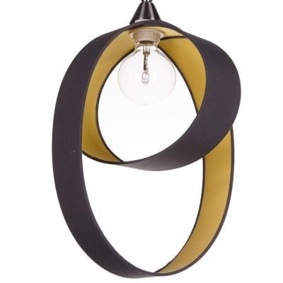 Pendant lamps Atom Diam.40 H.40 external anthracite canvas
