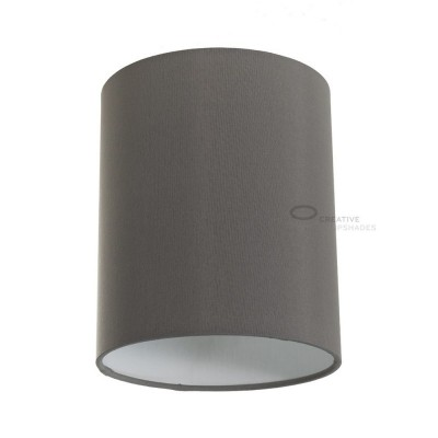 Grey Arenal Cylinder Lampshade, Ø 15cm h18cm, E27 fitting - 100% Made in Italy