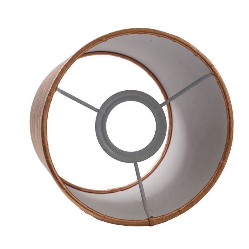 Copper-coloured Cylinder lampshade, Ø 15cm h18cm, E27 fitting - 100% Made in Italy