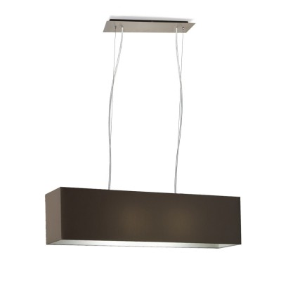 Suspension rectangulaire à 2 lumières  E 27 max 60 w