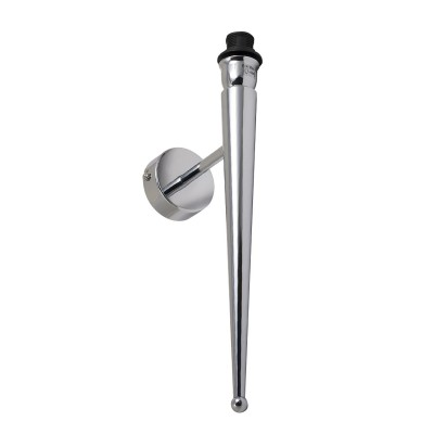 Wandleuchte einzel Metall-chrom E 14 max 40 W