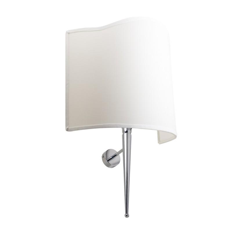 Lámpara de pared circular de latón cromado E 14 max 40 w