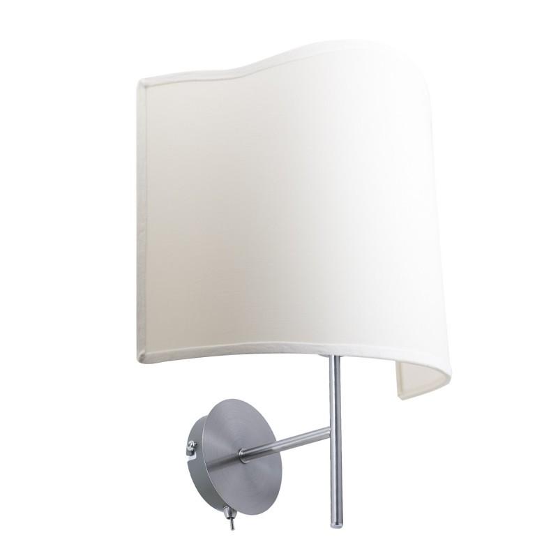 Lámpara de pared Simply circular de latón satinado con interruptor E 14 Max 40 W