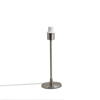Pied de lampe de table Simply en métal satiné E 14 max 40 w