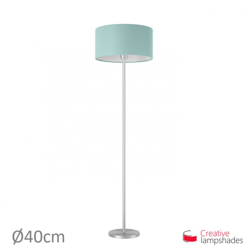 Heavenly Blue Cinette Cylinder Lamp Shade