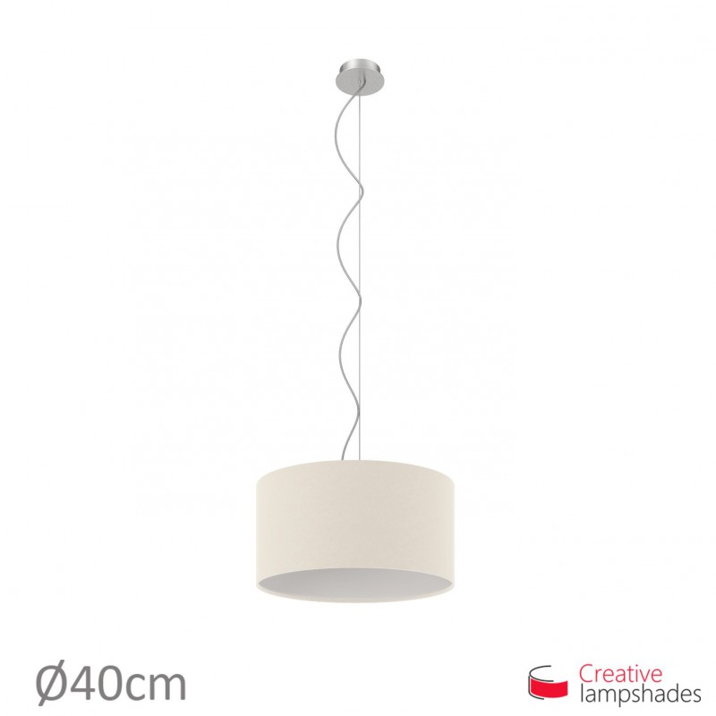 Sand Canvas Cylinder Lamp Shade