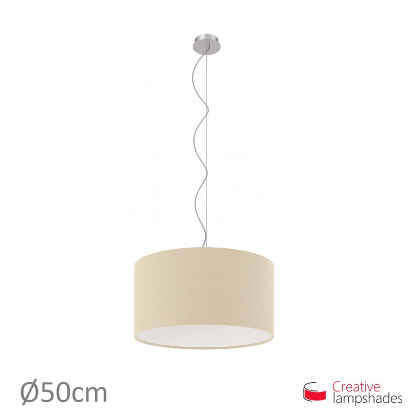 Hazel Canvas Cylinder Lamp Shade