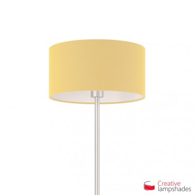 Pale Yellow Canvas Cylinder Lamp Shade