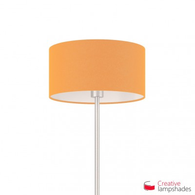 Mandarin Orange Canvas Cylinder Lamp Shade