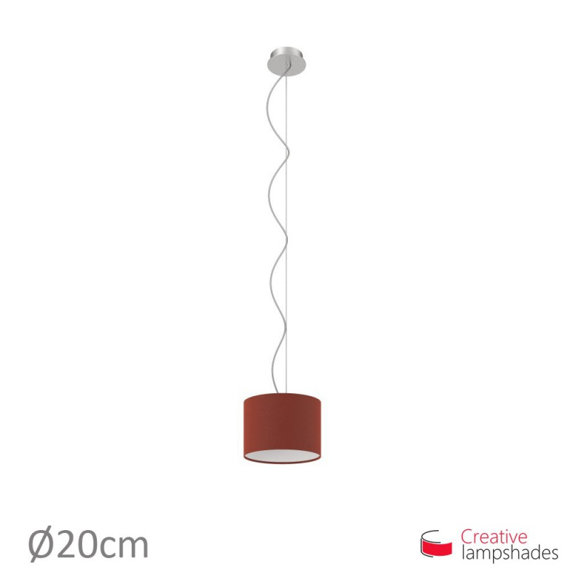 Burgundy Canvas Cylinder Lamp Shade