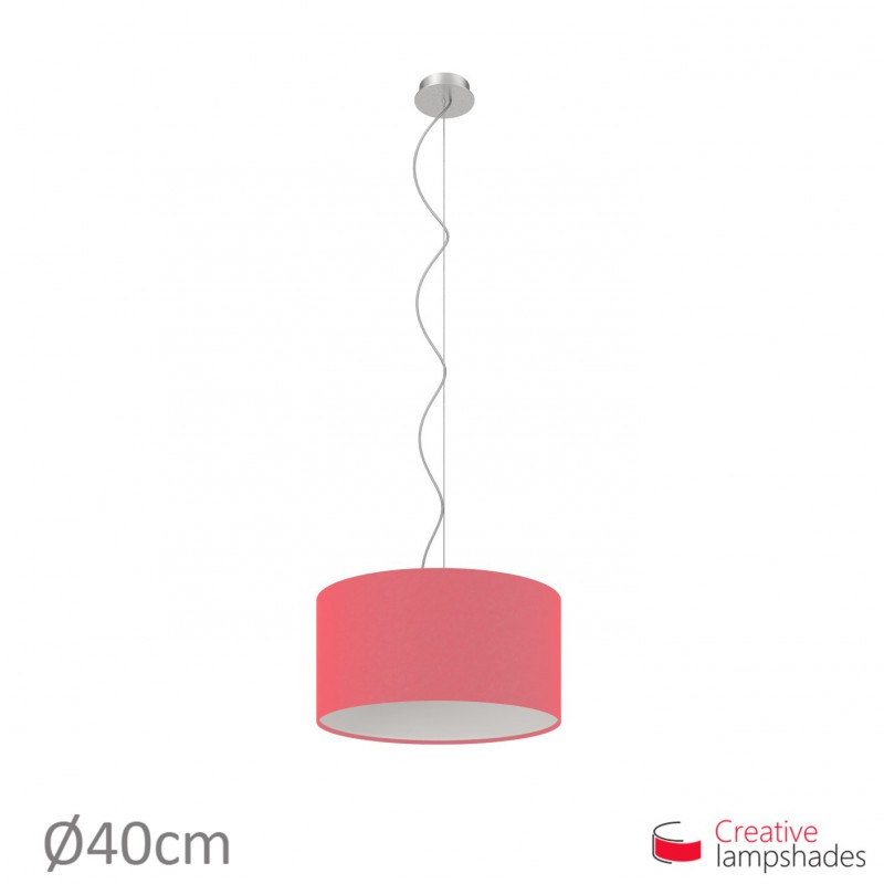 Fuchsia Canvas Cylinder Lamp Shade