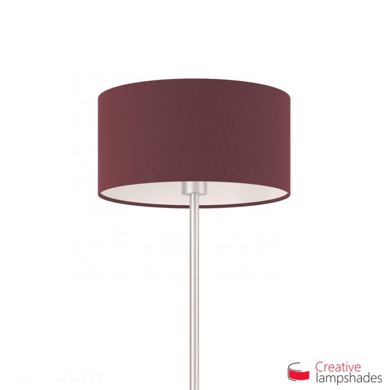 Dark Violet Canvas Cylinder Lamp Shade