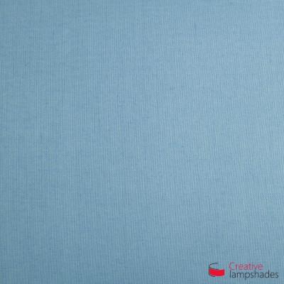 Lampenschirm Zylinder hellblau Leinwand