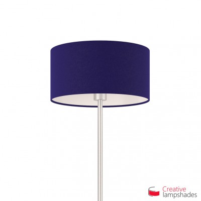 Blue Canvas Cylinder Lamp Shade