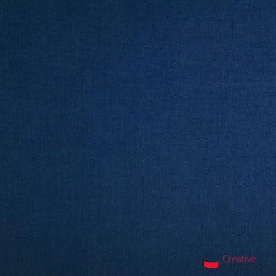 Lampenschirm Zylinder marineblau Leinwand