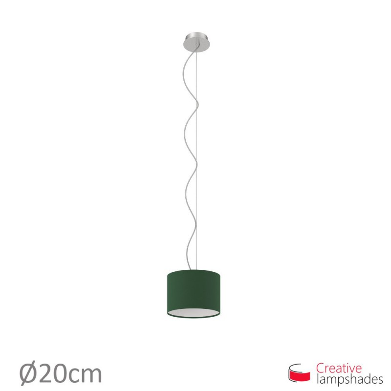 Dark Green Canvas Cylinder Lamp Shade