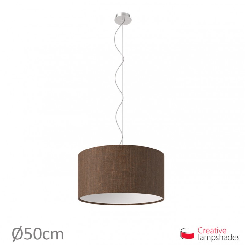 Brown Camelot Cylinder Lamp Shade