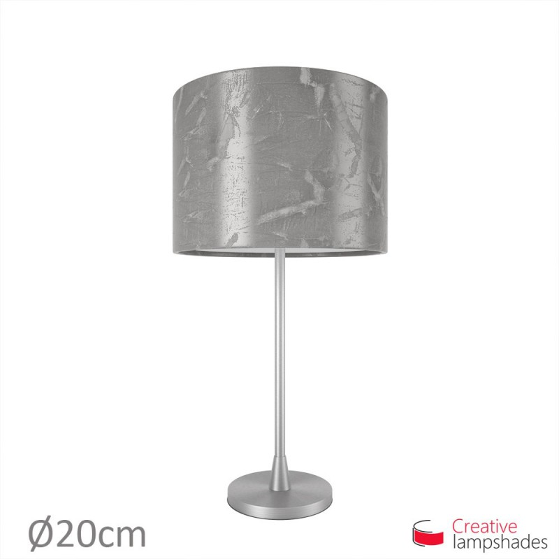 Persia cylinder lamp shade silver persia cylinder lamp shade mozeypictures Image collections