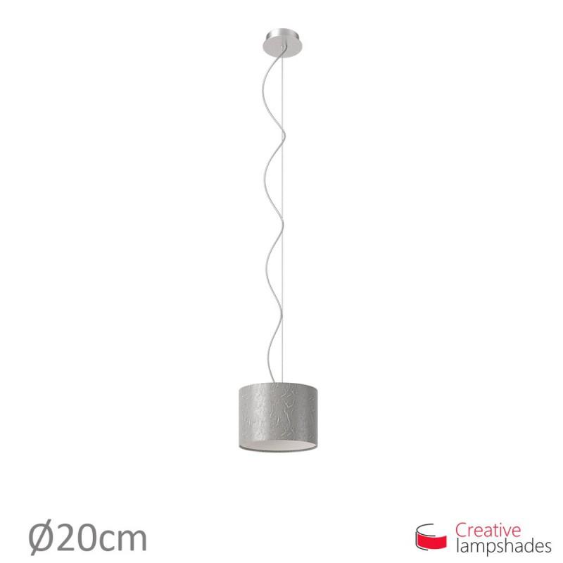 Lampenschirm Zylinder persiensilber Metall