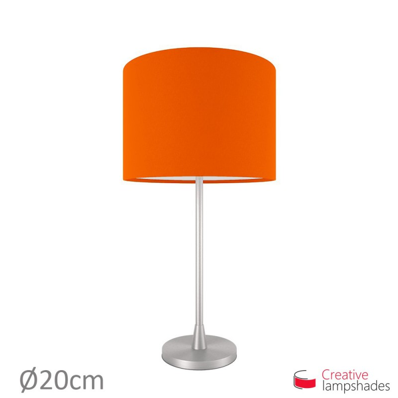 Cylinder Shade Fabric:Orange Canvas