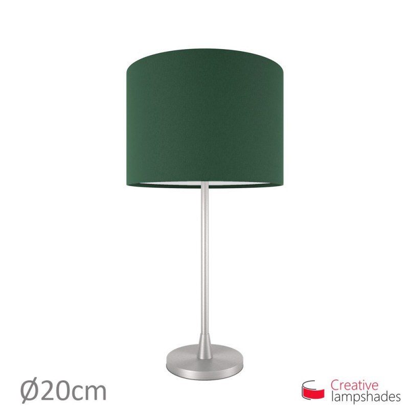 Cylinder Shade Fabric:Dark Green Canvas